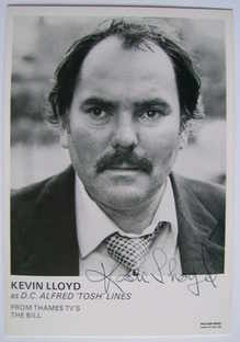 Kevin Lloyd autograph (ex The Bill actor)