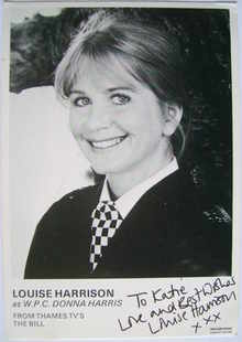 Louise Harrison autograph (ex The Bill actor)