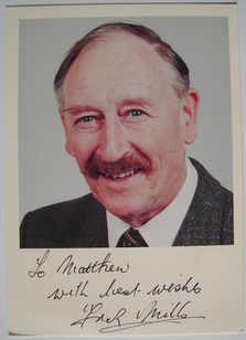 Frank Mills autograph (hand-signed photograph, dedicated)
