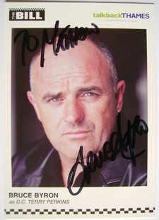 Bruce Byron autograph (ex The Bill actor)