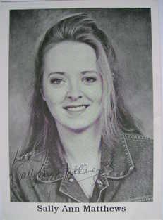 Sally Ann Matthews autograph