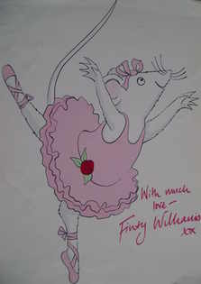 Finty Williams autograph (Angelina Ballerina picture, hand-signed)