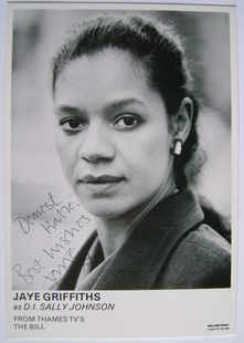 Jaye Griffiths autograph (ex The Bill actor)