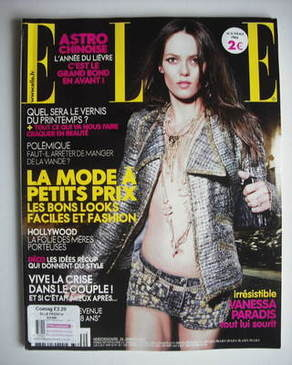 <!--2011-01-28-->French Elle magazine - 28 January 2011 - Vanessa Paradis c