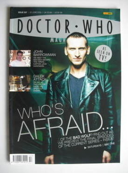 Doctor Who magazine - Christopher Eccleston cover (22 June 2005)