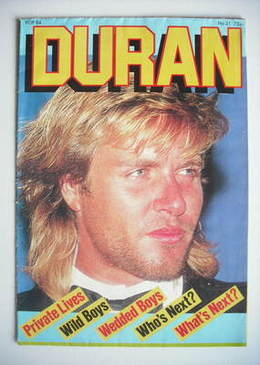 Duran Duran magazine - Pop 84 - Simon Le Bon cover (No 21)