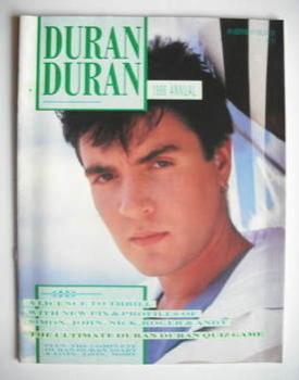 Duran Duran magazine - 1986 Annual - Simon Le Bon cover