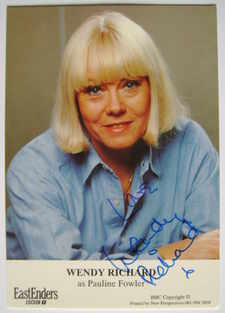 Wendy Richard autograph (ex EastEnders actor)