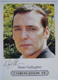 Sean Gallagher autograph (ex Coronation Street actor)