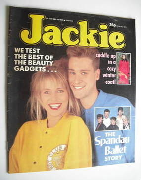 <!--1986-12-13-->Jackie magazine - 13 December 1986 (Issue 1197)