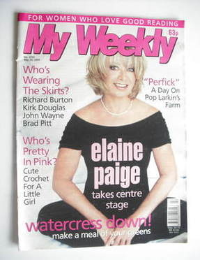 My Weekly magazine (29 May 2004 - Elaine Paige cover)