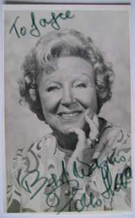 Doris Hare autograph (hand-signed photograph, dedicated)