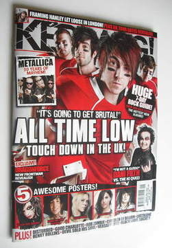 <!--2011-03-05-->Kerrang magazine - All Time Low cover (5 March 2011 - Issu
