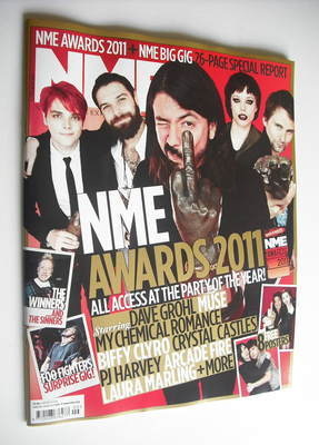 <!--2011-03-05-->NME magazine - NME Awards 2011 cover (5 March 2011)