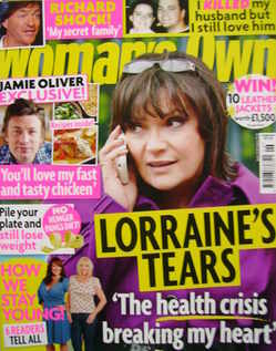 <!--2011-02-07-->Woman's Own magazine - 7 February 2011 - Lorraine Kelly co