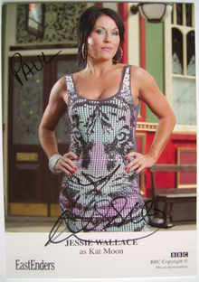Jessie Wallace autograph (EastEnders actor)