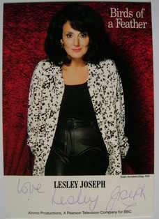Lesley Joseph autograph