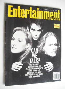 Entertainment Weekly magazine - Meryl Streep, Winona Ryder and Glenn Close cover (11 February 1994)