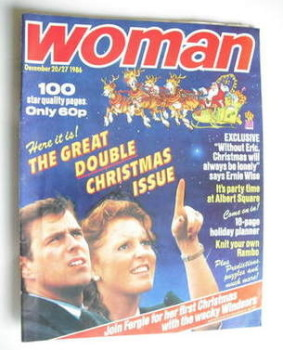 Woman magazine - Christmas Issue (20-27 December 1986)