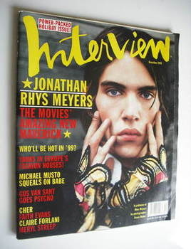 <!--1998-12-->Interview magazine - December 1998 - Jonathan Rhys Meyers cov