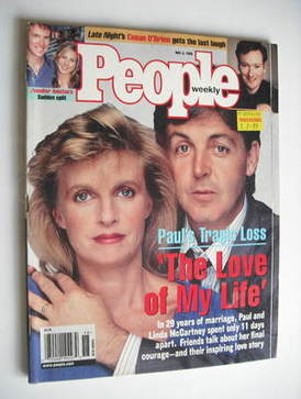 People Weekly magazine - Paul and Linda McCartney cover (4 May 1998)