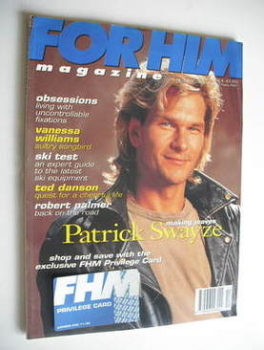 FHM magazine - Patrick Swayze cover (November 1991)