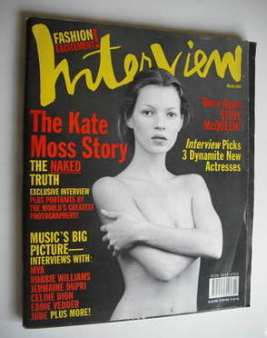 <!--1999-03-->Interview magazine - March 1999 - Kate Moss cover