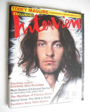 <!--1998-10-->Interview magazine - October 1998 - Tobey Maguire cover