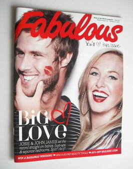 <!--2011-02-13-->Fabulous magazine - Josie Gibson and John James Parton cov