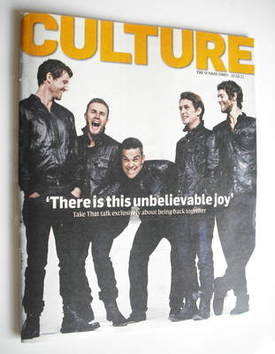 <!--2011-02-27-->Culture magazine - Take That cover (27 February 2011)