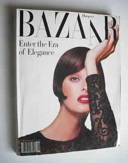 Harper's Bazaar magazine - September 1992 - Linda Evangelista cover