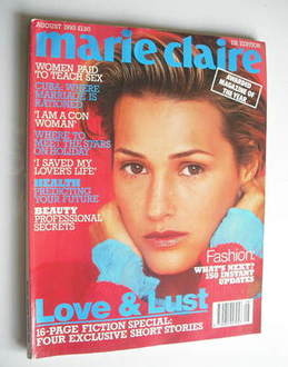 British Marie Claire magazine - August 1993 - Yasmin Le Bon cover