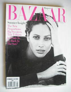 Harper's Bazaar magazine - May 1993 - Christy Turlington cover