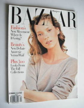 Harper's Bazaar magazine - July 1993 - Kate Moss cover