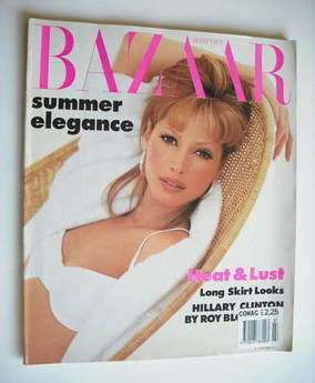 Harper's Bazaar magazine - July 1992 - Christy Turlington cover