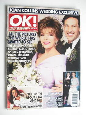 <!--2002-02-28-->OK! magazine - Joan Collins and Percy Gibson cover (28 Feb