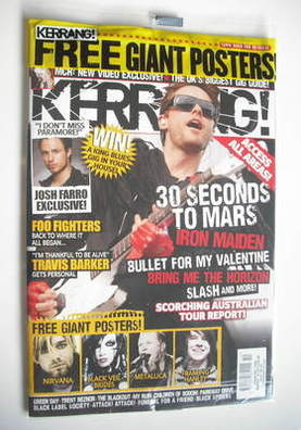 <!--2011-03-12-->Kerrang magazine - Jared Leto cover (12 March 2011 - Issue