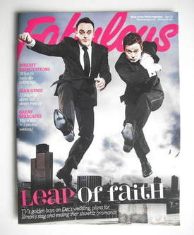 <!--2011-02-06-->Fabulous magazine - Ant and Dec cover (6 February 2011)