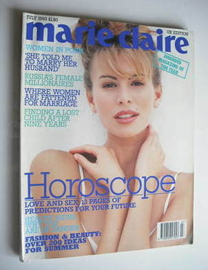<!--1993-07-->British Marie Claire magazine - July 1993 - Niki Taylor cover