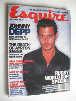 Esquire magazine - Johnny Depp cover (May 1995)