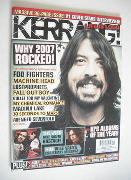 <!--2007-12-22-->Kerrang magazine - Dave Grohl cover (22-29 December 2007 -