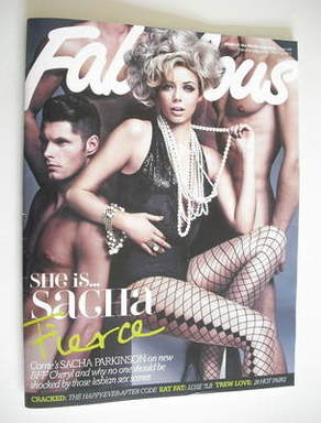 <!--2011-03-06-->Fabulous magazine - Sacha Parkinson cover (6 March 2011)