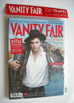 Vanity Fair magazine - Robert Pattinson cover (April 2011)