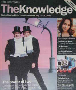 The Knowledge magazine - 22-28 July 2006 - Eric Morecambe and Ernie Wise cover