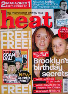 <!--2003-03-15-->Heat magazine - Brooklyn's Birthday Secrets cover (15-21 M