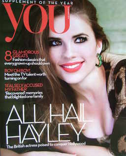 <!--2010-10-31-->You magazine - Hayley Atwell cover (31 October 2010)