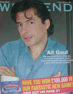 Weekend magazine - Jean-Christophe Novelli cover (28 January 2006)