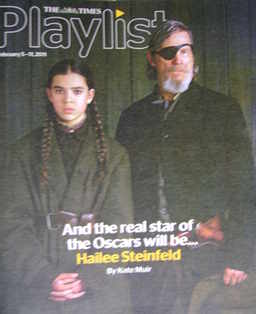 The Times Playlist magazine - 5 February 2011 - Hailee Steinfeld and Jeff Bridges cover