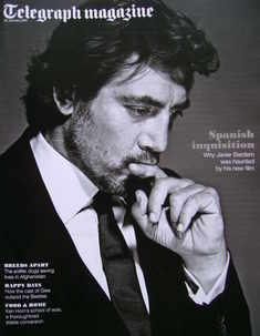 <!--2011-01-22-->Telegraph magazine - Javier Bardem cover (22 January 2011)