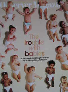 <!--2007-11-11-->The Observer magazine - The Trouble With Babies cover (11